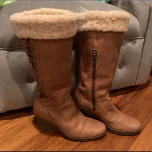 UGG Felicity Leather Boots - Size 8